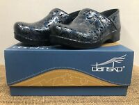 NIB Dansko 606 Women's Professional Silver/Blue Tooled Clog 42