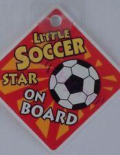 *New* On Board Car Sign Little Soccer Star on Board