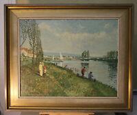 Wolfgang HÜTTEN (*1922) Ölgemälde Am See Impressionismus