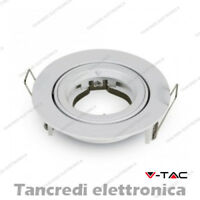 Portafaretto orientabile da incasso V-TAC VT-775 rotondo bianco Φ95 x 32 mm