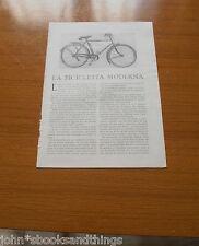 1930 LA BICICLETTA MODERNA TECNICA BICI EPOCA VECCHIA ANNI 30