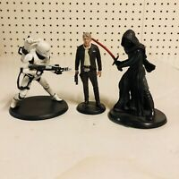 Star Wars Action Figures on stand Disney Store Lot of 3 Vietnam Han Solo