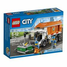 LEGO CITY GARBAGE TRUCK SEALED SET CITY RECYCLING BIN MINIFIGURES #60118 2016