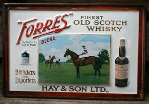 FORRES SCOTCH WHISKY Embossed Metal Pub Sign