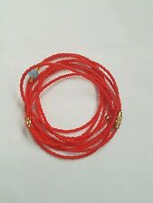 "Sexy African Single Waist Beads, Red; 22""inches long New FREE P&P"