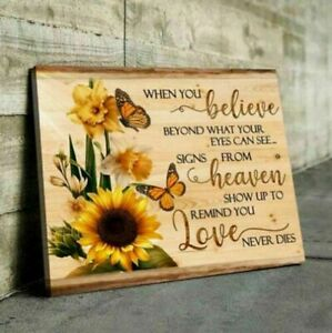 Butterfly When You Believe Beyond What Your Eyes Wrapped Canvas 0.75in Framed