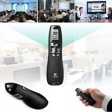 30m Logitech R800 Professional Wireless Presenter Green Laser Pointer LCD Timer