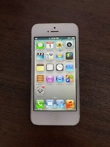 Apple iPhone 5 - iOS 6 - RARE - White & Silver