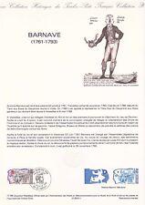 Document philatélique 11-89 1er jour 1989 Barnave Personnage Historique