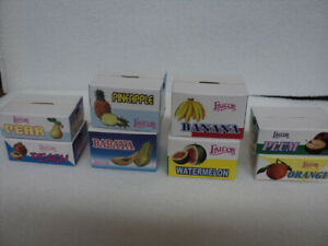 DOLLHOUSE FRUIT BOXES/ 7-PC. (EMPTY)