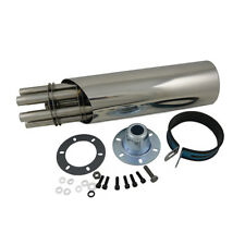 Stainless Steel Rotating Gatling Gun Exhaust Muffler Pipe Motorcycle Dirt Bike