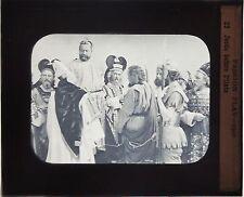 ANTIQUE 1910 MAGIC LANTERN SLIDE - PASSION PLAY - JESUS BEFORE PILATE