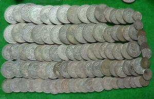 BULK LOT -  PRE 1947  .500 SILVER COINS - 557 GMS