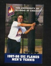 UIC Flames--1997-98 Tennis Pocket Schedule