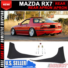 For 86-91 Mazda RX7 FC3S Unpainted Rear Bumper Spats Aprons Splash Guards Pair
