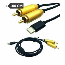 USB Type C to Dual RCA 2RCA Male Female Adapter Cable Stereo Audio Cord Lead