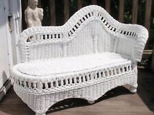 Vintage White Wicker Baby Chaise Lounge Chair Baby Photography Local Pick Up