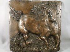 "Bronze 6""X6"" Horse Decorative Metal Tile By Metal Tile Arts Manufact"