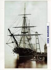 1860 HMS WARRIOR Battleship Capital Ship / GB Warship Photograph Maxi Card