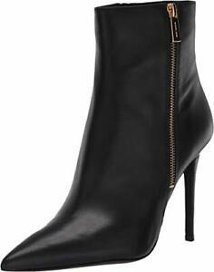Michael Michael Kors Womens Snakeskin Pointed Toe Ankle Fashion, Black, Size