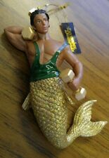 December Diamonds Biceps Weight Lifter Merman Christmas Ornament New in Box