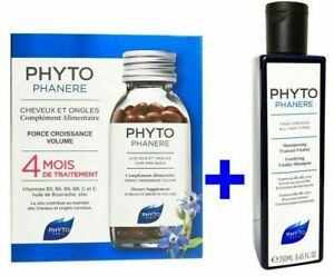 PHYTO Phytophanere Hair Nails Dietary Supplement 240 Caps - 4 Months + Shampoo