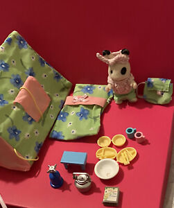 sylvanian families Ingrids Camping Set Stove And other accessories GC