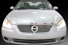 Fit 02-04 NISSAN Altima Upper Mesh Grille Grill Chrome Finish Stainless Steel