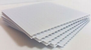White Fluted Polypropolene Correx Sign Board Corrugate Plastic Lightweight Sign