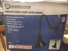 """Strongway 8"""" BLACK ANGLED SIGN LIGHT W/ SHADE"""