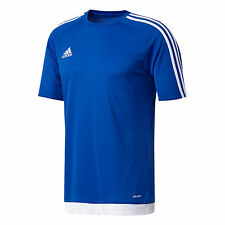 adidas Football Youth Soccer Estro 15 Jersey Boys Climalite Blue White 164