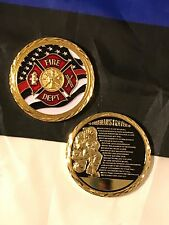 Call To Duty Fireman's Prayer Challenge Coin Firefighter Firemen Fire Department