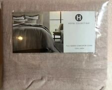 HOTEL COLLECTION FULL QUEEN COMFORTER COVER 100% LINEN LIGTH PINK $335