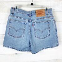 Levi's 555 Women's High Rise Jean Shorts Blue Denim Size 9 100% Cotton Vintage
