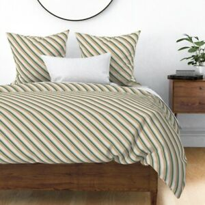 Kids Crafts Diagonal Stripes Stripes Sateen Duvet Cover by Roostery