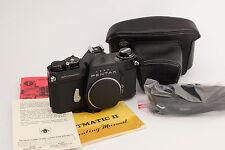 ASAHI PENTAX SPOTMATIC SP II 35mm SLR Camera W/ Case, Shoulder Strap & Manual