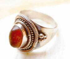 Natürliche Echtschmuck-Ringe aus Sterlingsilber Bernstein