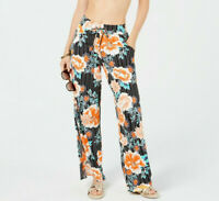 Bar III Floral Stripe Printed Cover-Up Pants MSRP $68 Size L # TR 88 NEW