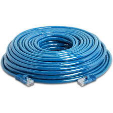 200 ft Ethernet Cable Cat5e Cat5 LAN Patch Network Snagless Cord 200 Foot - Blue