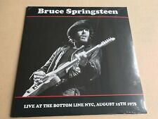 BRUCE SPRINGSTEEN - Live At The Bottom Line, Nyc, August 15th 1975 Vinyl lp