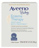 Aveeno Baby Eczema Therapy Soothing Bath Treatment 5 Ct EXP 02/23 box damag(25b)