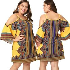 New Ladies Yellow Paisley Off The Shoulder Dress Plus Size 3XL/20 (1473)RN