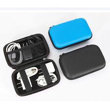 EVA Digital Cable Organizer Bag Case Zipper Pouch For Cable Earphone Black