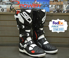 Sidi Crossfire 2 SRS Off Road Motorcycle Boots Black/White US 9.5 / EU 43
