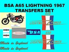 BSA A65 Lightning 1967 Transfers Set Decals Motorcycle A65L