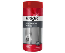 Magic Stainless Steel Wipes - 30 Ct. Per Canister