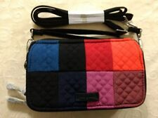 New Vera Bradley Iconic RFID All In One Crossbody Bag Purse in Winter Patchwork