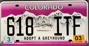 USA Nummernschild COLORADO GREYHOUND WINDHUND HUND US Kennzeichen