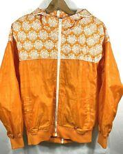 Vintage Live Mechanics Full Zip Orange with Pattern Men's Jacket Hooded Size XL