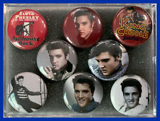 ELVIS PRESLEY Icons & Iconic Images Set of 8 (Eight) 1.0 inch Round Magnets